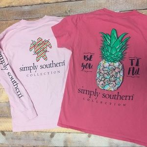 Simply southern t shirts bundle 2 size small